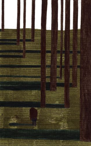 Woodland papercut